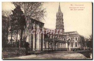 Postcard Old Toulouse St Sernin Basilica