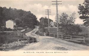 Sand Brook New Jersey~Drive~Rails Over Culvert Bridge~Homes~Vosseller Pub~1908