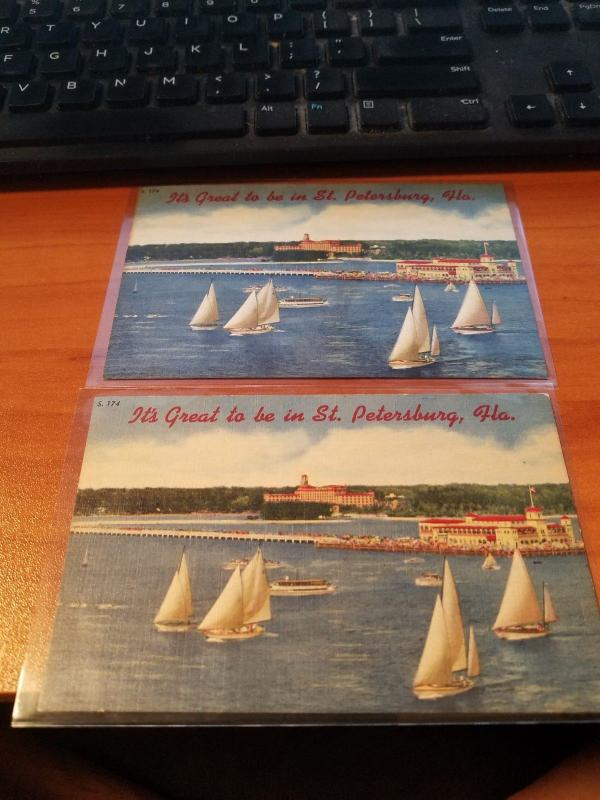 Antique/Vintage Florida Postcard, Its Great to be in St. Petersburg, Fla.