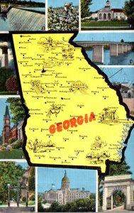 Georgia Map With Multi Views
