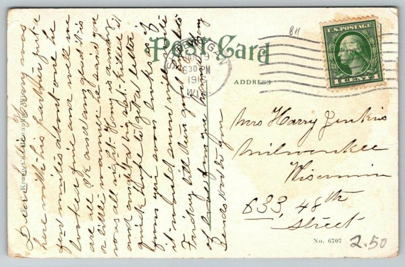 Sheboygan Wisconsin~St Nicholas Hospital~1916 Postcard