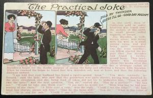 "Postcard Unused  ""The Ptactical Joke"" Copyrighted 1916 E W Fairbanks LB"