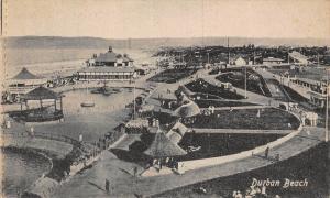 South Africa Durban beach panorama postcard