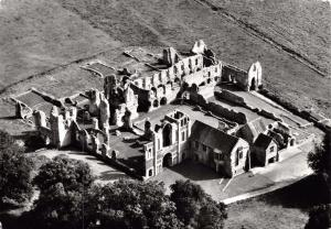 Vintage REAL PHOTO Postcard CASTLE ACRE Priory, Norfolk, Aerial View #C