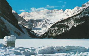 Lake Louise, Banff National Park In Winter, Mountains, Snow, Banff, Alberta...