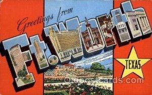 Ft. Worth, Texas Large Letter Town Unused light wear, Unused