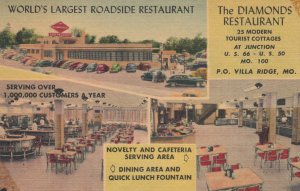 RT 66: VILLA RIDGE , Missouri , 1930-40s ; The Diamonds Restaurant