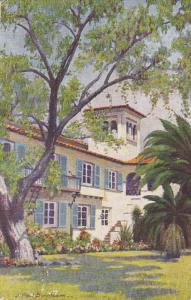 AGUAS CALIENTES, Mexico, 1900-1910's; A Quaint Escalera Leads To The Cool