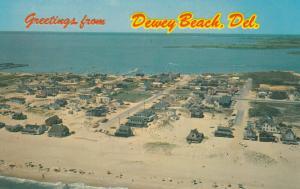 DEWEY BEACH , Delaware, 50-60s ; Air View , Ocean & Bay