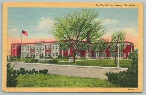 Lewes Delaware~High School Building~Vintage Postcard