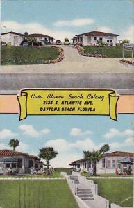 Florida Daytona Beach Casa Blanca Beach Colony 1951