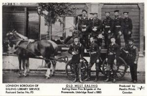West Ealing London Fire Brigade Engine Postcard