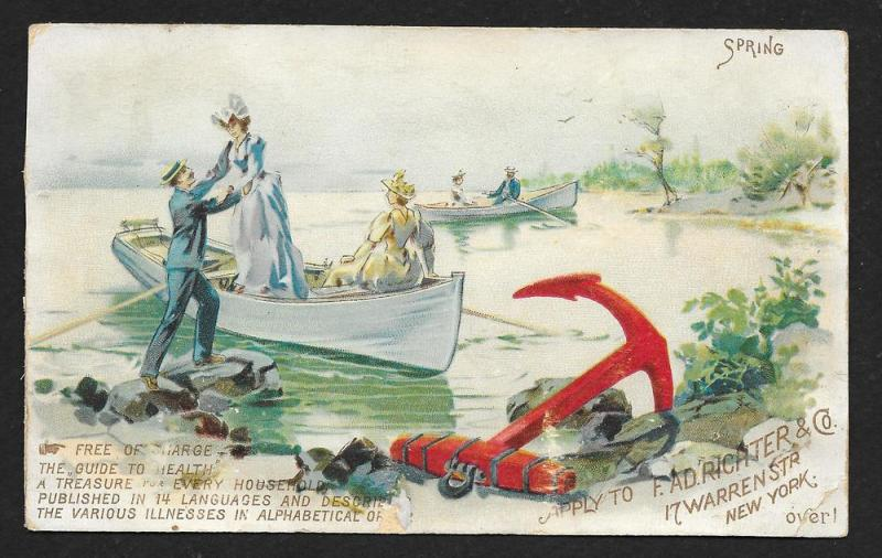 VICTORIAN TRADE CARD Anchor Pain Expeller Calendar