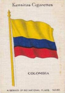 Wix Vintage Silk Cigarette Card National Flags 1934 No 60 Colombia