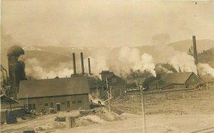 c1910 Ashland Oregon Logging Lumber Industry Mill Railroad Burner RPPC Postcard