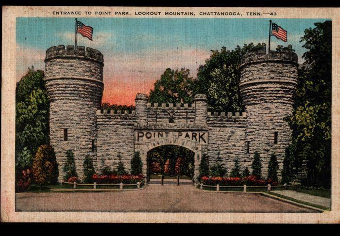 Ft Oglethorpe GA Point Park Battle Above the Clouds Confederate Postcard B01