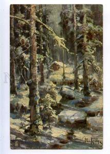 224573 RUSSIA KLEVER December Richard #766 vintage postcard
