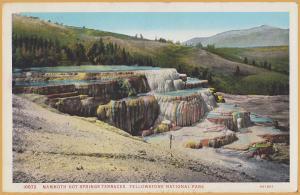 Yellowstone Park, Wyoming-Mammoth Hot Springs Terrace - 1929