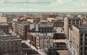 WINNIPEG, Manitoba, Canada, 1900-10s; General View (showing Wholesale Section)