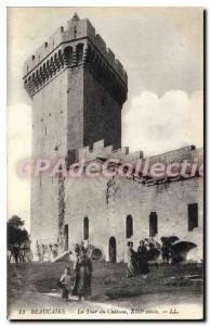 Old Postcard Beaucaire La Tour Du Chateau
