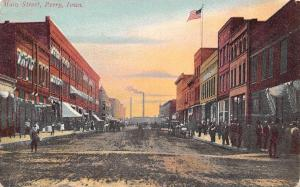 Perry IA~Main Street~R Walsh~Crowded Sidewalk~Grand Leader Department Store~1908