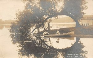LP48   Rome City  Indiana Vintage Postcard RPPC Water Willow