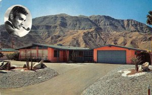 HOME OF JEFF CHANDLER Palm Springs, CA Movie Star c1950s Vintage Postcard