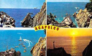 Mexico Acapulco La Quebrada y Clavadistas Boats Sunset