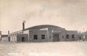 D37/ Washington Iowa Ia Real Photo RPPC Postcard c40s Armory Building