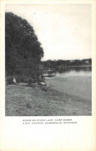 Cassopolis Michigan AME Church Camp Baber Antique Postcard K83357
