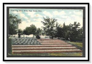 Michigan, Detroit - Floral Flag - Water Works Park - [MI-012]