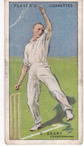 Cigarette Cards Player's Cricketers 1930 No 15 - G Geary