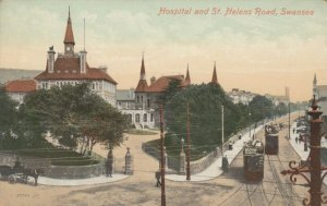 SWANSEA , Wales , 1900-10s; Hospital and St. Helens Road