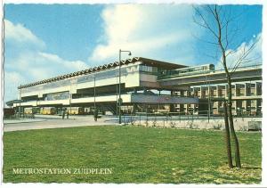 Metro station, Zuidplein, Rotterdam, 1960s unused Postcard