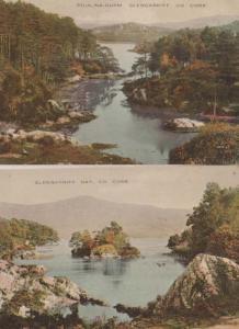 Glengarriff Poul Na Gurm + Bay 2x County Cork Irish Ireland Antique Postcard