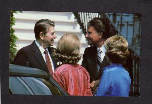 President Ronald Reagan Nancy Rev Billy Graham White House DC Washington