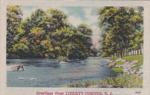 New Jersey Greetings From Liberty Corner 1945