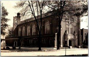 Mendota, Illinois RPPC Real Photo Postcard Holy Cross Catholic Church c1930s