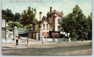 Hot Springs AR~Miniature Founts?~Elaborate Decor~Palace Bathhouse~Parapet c1910