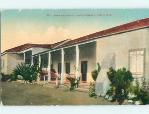 Unused Divided-Back HOUSE AT RAMONA CAMULOS RANCH Los Angeles - Piru CA t5987
