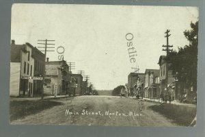 Morton MINNESOTA RPPC 1916 MAIN STREET nr Redwood Falls Franklin Morgan Fairfax