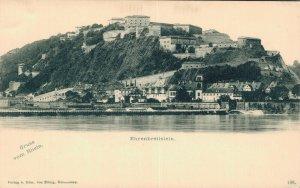 Germany Gruss Vom Rhein Ehrenbreitstein 06.61