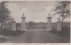 New York  Utica Entrance To Frederick T Proctor PArk Albertype