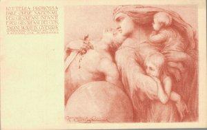 Lotteria Promossa Dalle Opere Nazionall Art Nouveau Advertising - 04.58