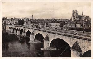 France Orleans Vue generale Pont Promenade Bridge Partial view 1941