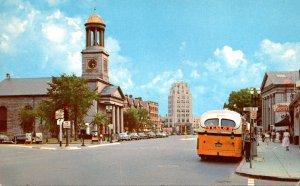Massachusetts Quincy Center Showing First Parish Church 1954