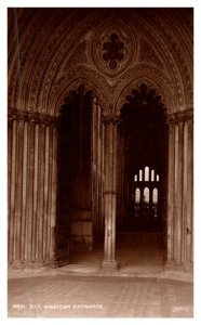Cambridgeshire, Ely Cathedral  Western Entrance   Judges LTD no.4851