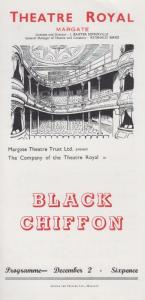 Black Chiffon Lesley Storm Rare Vintage Theatre Royal Margate Kent Programme