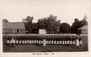 fiji islands, Native Police (1930s) RPPC Lilywhite 37