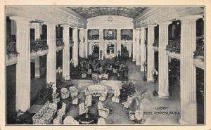 Lobby, Hotel Pennsylvania, New York, N.Y., early postcard, Unused